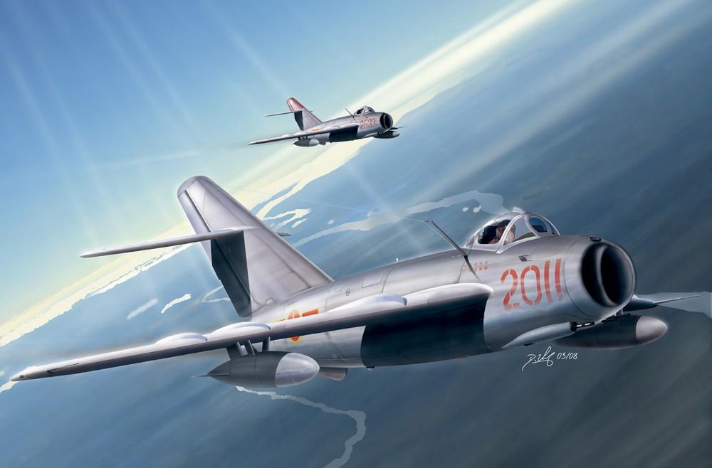 Aviation art - MiG17