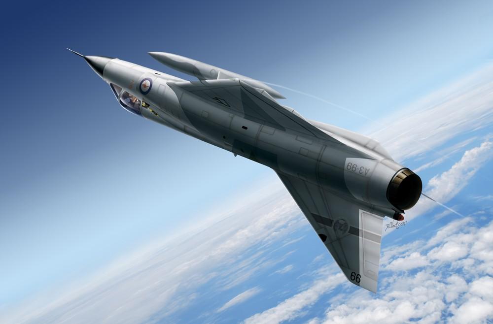 Aviation art - Mirage IIIO