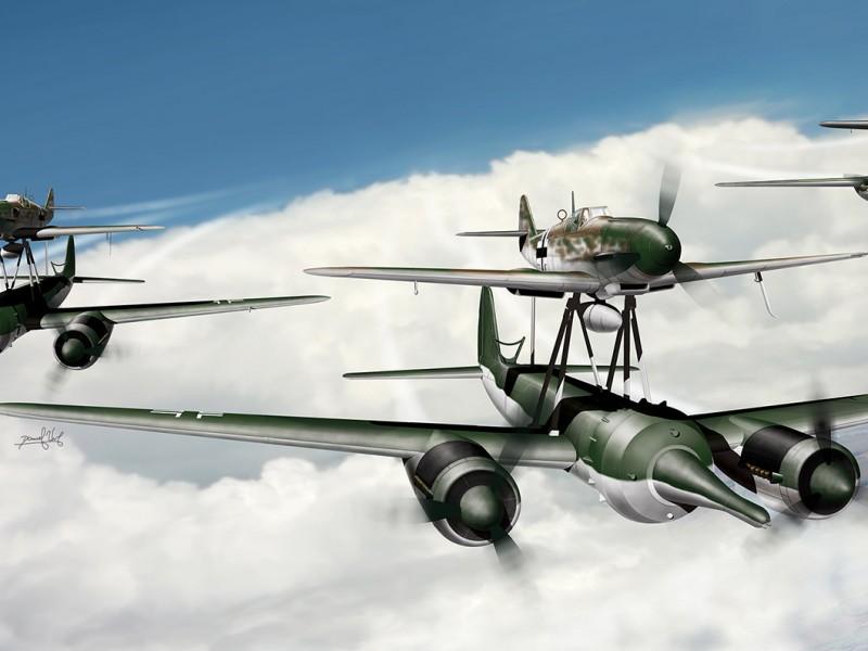 Aviation art - Mistel