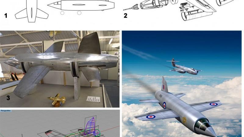 Aviation art - Miles M.52