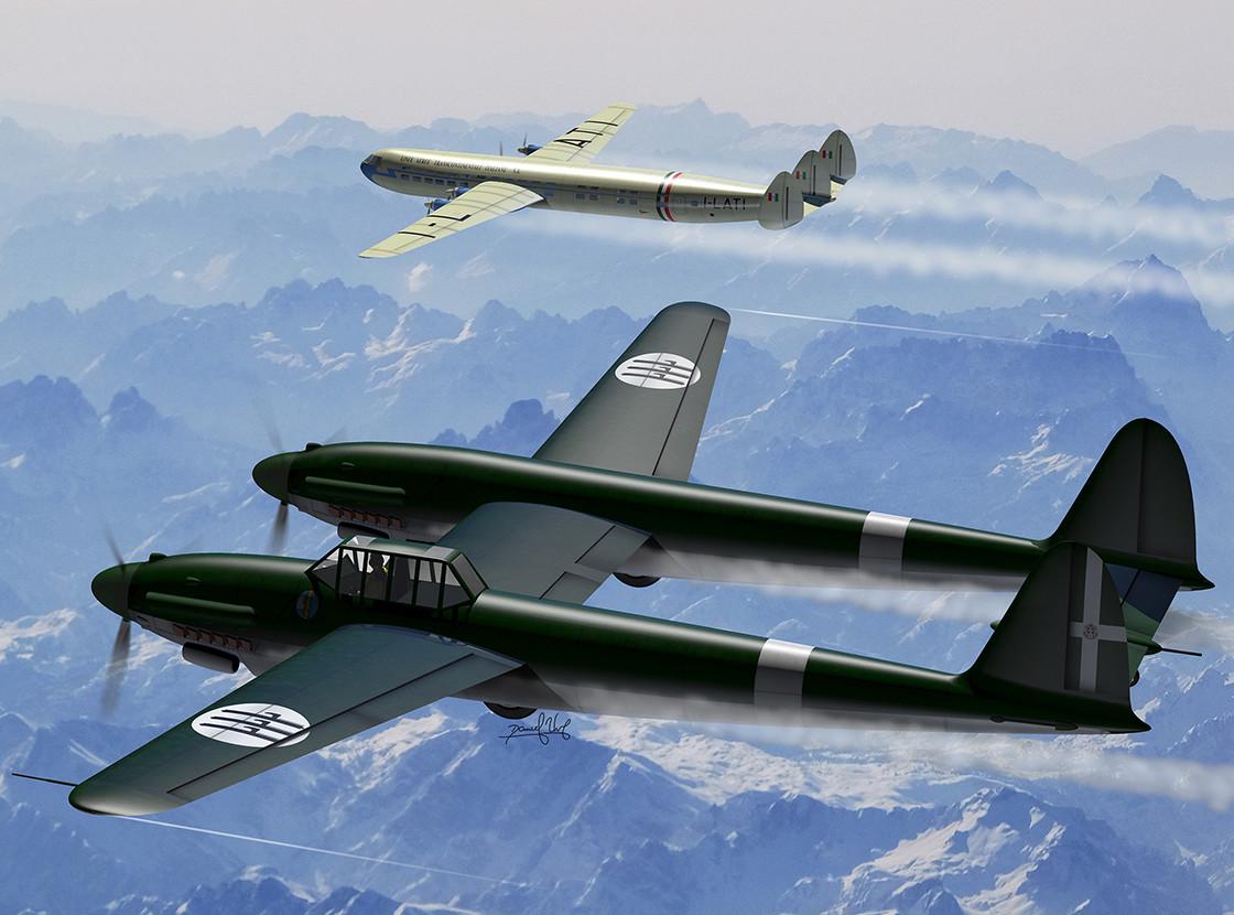 Savoia Marchetti SM 92 and Piaggio P 127c