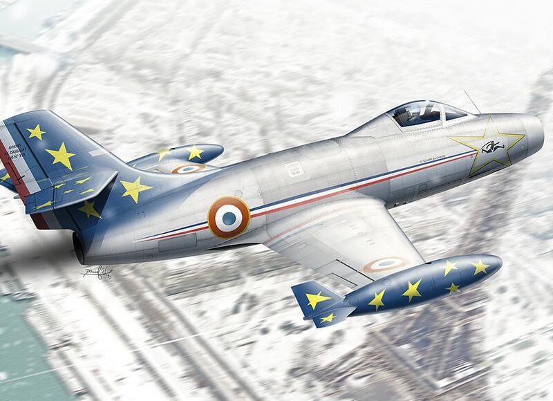 Dassault-M.D.450 Ouragan – Patrouille de France